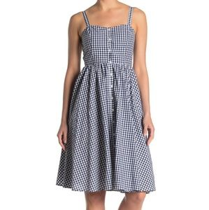 French Connection Blue Gingham Sundress Size 12